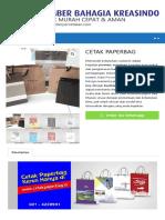 Daftar Harga Cetak Paperbag / Shopping Bag