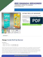 CETAK ROLLUP BANNER - Percetakan Murah Dan Cepat Di Jakarta