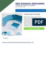 Daftar Harga Cetak MAP Folder
