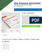 Daftar Harga Cetak Kwitansi / Nota/ Invoice / Surat Jalan