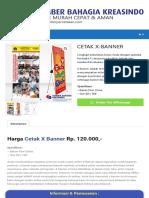 CETAK X-BANNER - Percetakan Murah Dan Cepat Di Jakarta