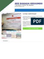 Cetak Sertifikat Harga Mulai Rp. 1.300,- Di SumberPercetakan.com
