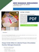 CETAK STIKER - Percetakan Murah Dan Cepat Di Jakarta