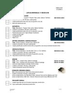 Lista de Utiles Escolares VI Basico 2018-1