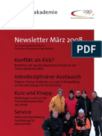 Trainerakademie Newsletter 03 2008