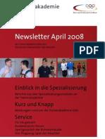 Trainerakademie Newsletter 04 2008