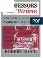 Professors as Writers a Self Help Guide to Product