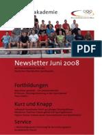 Trainerakademie Newsletter 06 2008