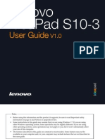 Lenovo IdeaPad S10-3 UserGuide V1.0 English
