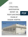 Duqm Hospital Roof Slab Inspection 12 March 2018