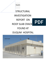 Duqm Hospital Roof Slab Inspection 12 March 2018