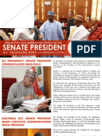 OFFICE OF THE SENATE PRESIDENT. DR. ABUBAKAR BUKOLA SARAKI. NEWSLETTER. MARCH 17TH, 2018.