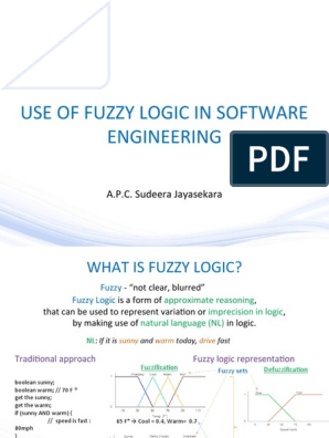 Use of Fuzzy Logic In Software Engineering | Fuzzy Logic