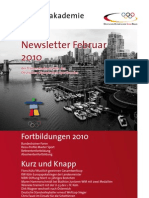 Trainerakademie Newsletter 02 2010