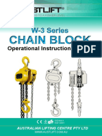 Chain Block W 3 Manual