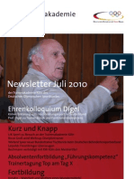Trainerakademie Newsletter 07 2010