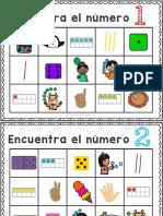 discriminación visual de representaciones de numeros