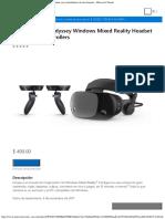 Samsung HMD Odyssey Windows Mixed Reality Headset Con Controladores de Movimien