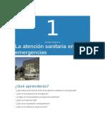 1º ASISE-La Atención Sanitaria en Emergencias