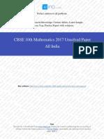 2017 Od Maths 10th Cbse Pyp