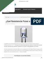 ¿Qué Resistencia Poner a un LED_.pdf