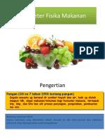 6. Parameter Fisika Makanan
