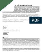 Cristianismo No Denominacional - Wikipedia, La Enciclopedia Libre