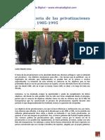 Breve Historia de Las Privatizaciones en España, 1985-1995