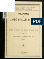 Correspondencia y Diario Militar de Don Agustín de Iturbide Tomo 1