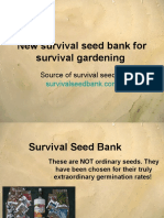 New survival seed bank for survival gardening