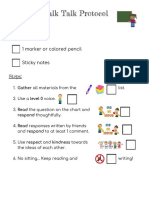 chalk talk protocol