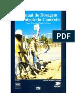 Livro Manual de Dosagem e Controle Do Concreto