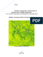 ODMP Quality Assessment of the LAI data products (for hydro modelling)