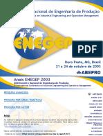 ENEGEP2003 - artigos apresentados