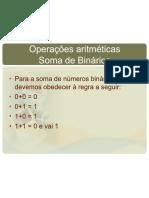 LEITURA 4 - Sistemas de Numeracao Operacoes Aritmeticas