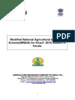 MNAIS_WBCIS Kharif 2015 Kerala