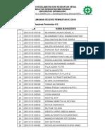 Seleksi Peminatan Calon Mahasiswa k3 2018 2