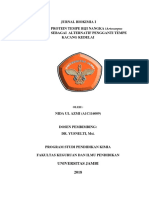 Jurnal Biokimia Analisis Protein Tempe Biji Nangka