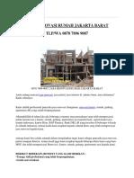 0878 7896 9087, Jasa Renovasi Rumah Jakarta Barat