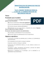 Texto Administracion de Espacios Fisicos en Educacion