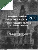 Descriptive Terminology for Art on Paper