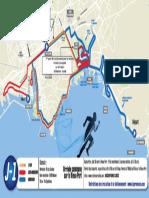 Le parcours et les points franchissement du Run Marseille 2018
