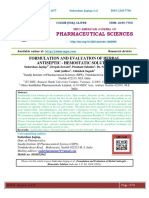 FORMULATION AND EVALUATION OF HERBAL ANTISEPTIC - HEMOSTATIC SOLUTION
