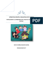 Literatura Infantil,Dramatizacion y Titeres Para Exposicion de Materiales