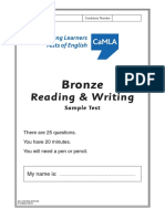 CaMLA YLTE - Bronze - Reading-Writing V1