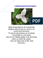 Poema Bella Monja Blanca de Guatemala