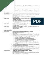 CV for Phd Position (Ref. BAP-2014-454)