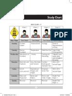 Study Chart - Class 5 [Imo, Nso, Nco, Ieo]