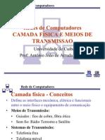 Unidade III  AULAS 17, 18, 19 CAMADA FÍSICA E MEIOS DE TRNASMISSÃO