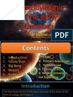 Thermodynamic of Early Universe